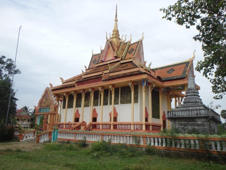 ornate village wat on the Kampot River