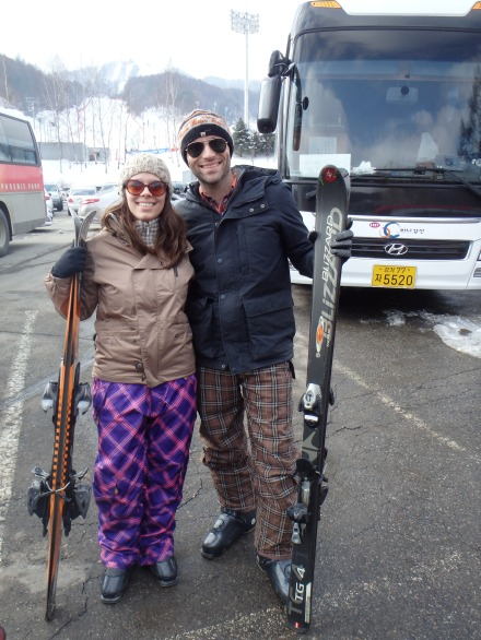 What a glamorous ski couple we make... (clearly, my jacket was very unflattering...)