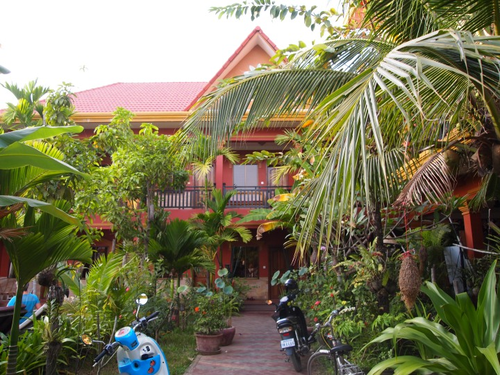 Our hostel concealed in lush foliage