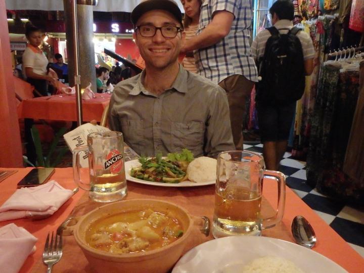 Having some nice Khmer food