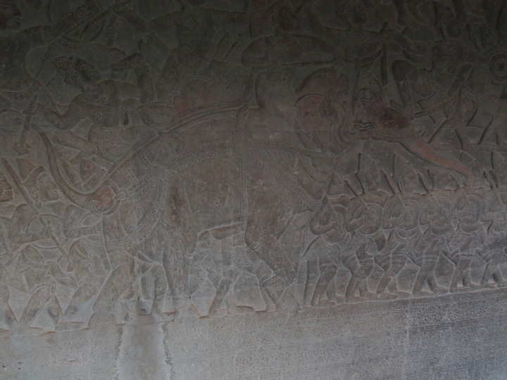 There are intricate bas reliefs on the 1st level corridors