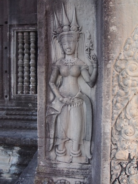 An apsara - a heavenly female spirit