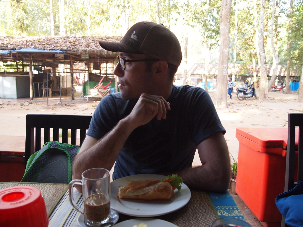 having a little breakfast before the next stop - Angkor Thom