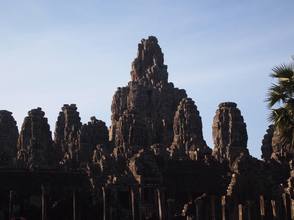 Bayon is at the exact center of Angkor Thom