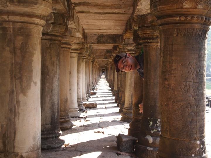 underneath the walkway - it looks infinite!