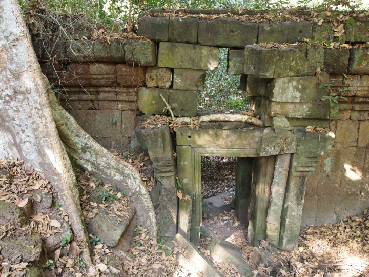 crumbling gate