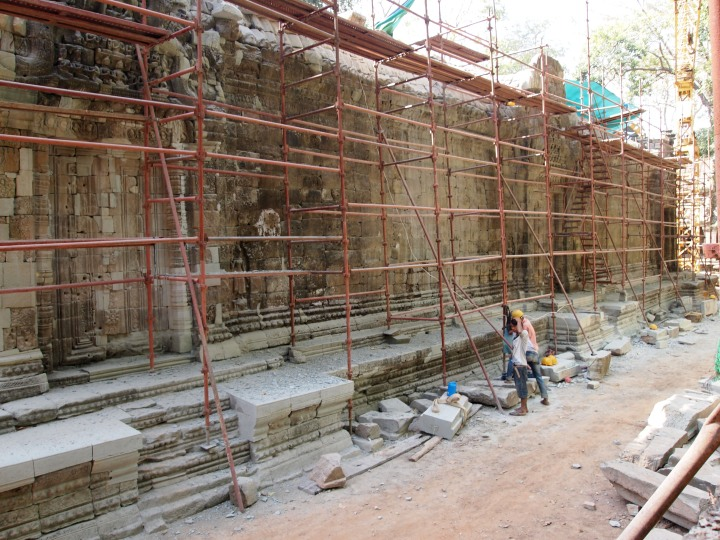 Some of the restoration work