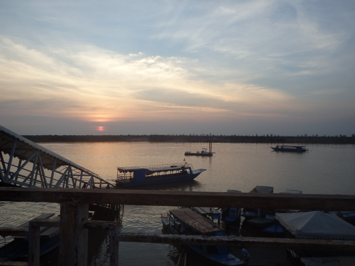 Sunset over Tonlé Sap