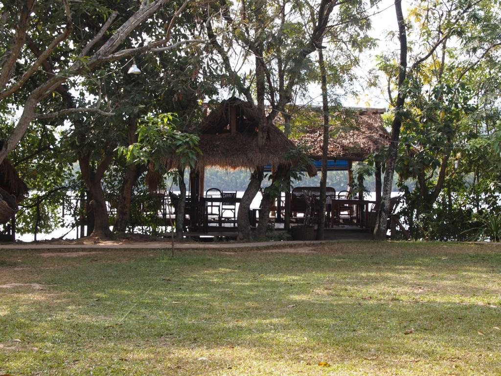 one of the many river cabanas