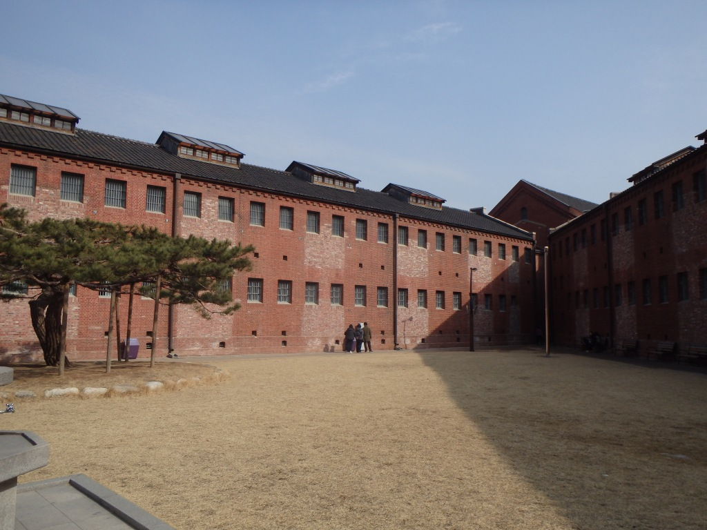 The exterior of one of the prison halls