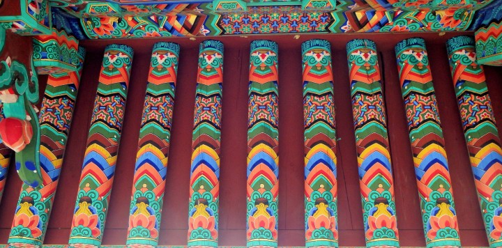 I love the vibrant colors of the temple buildings