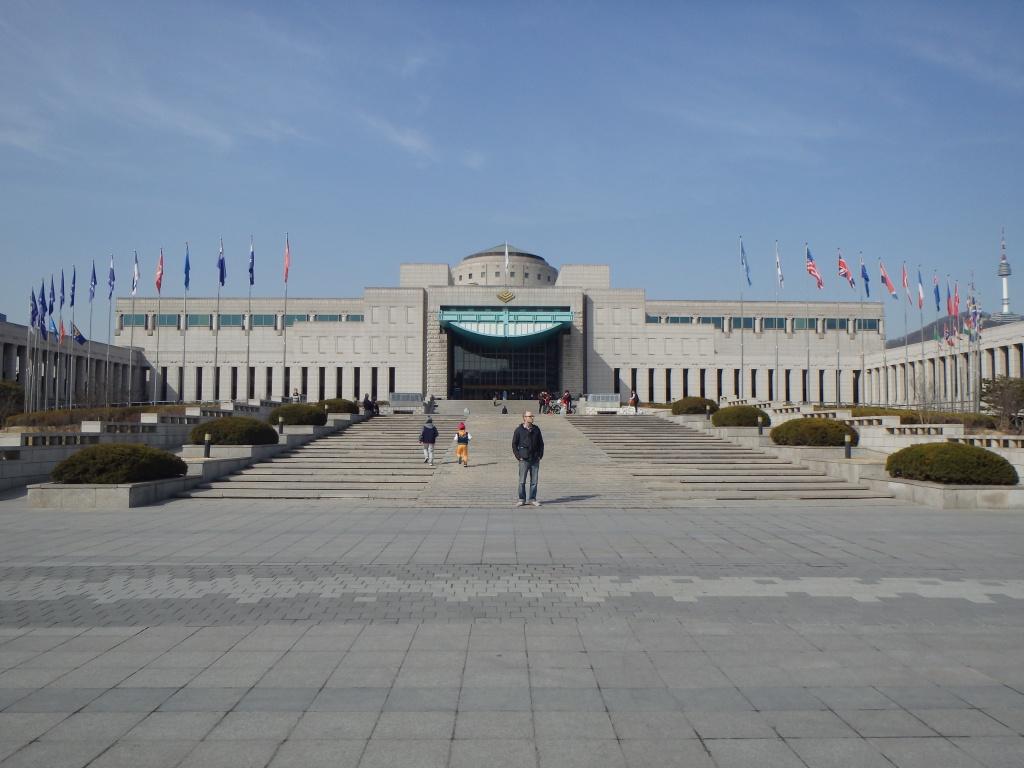 Zach standing in front of Memorial Hall