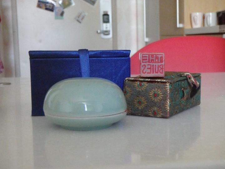 My dojang, wax, and fancy boxes