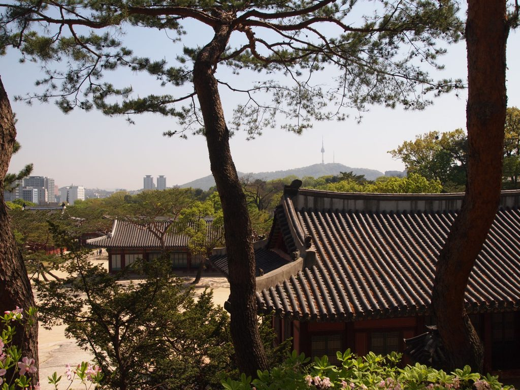 N Seoul Tower in the distance