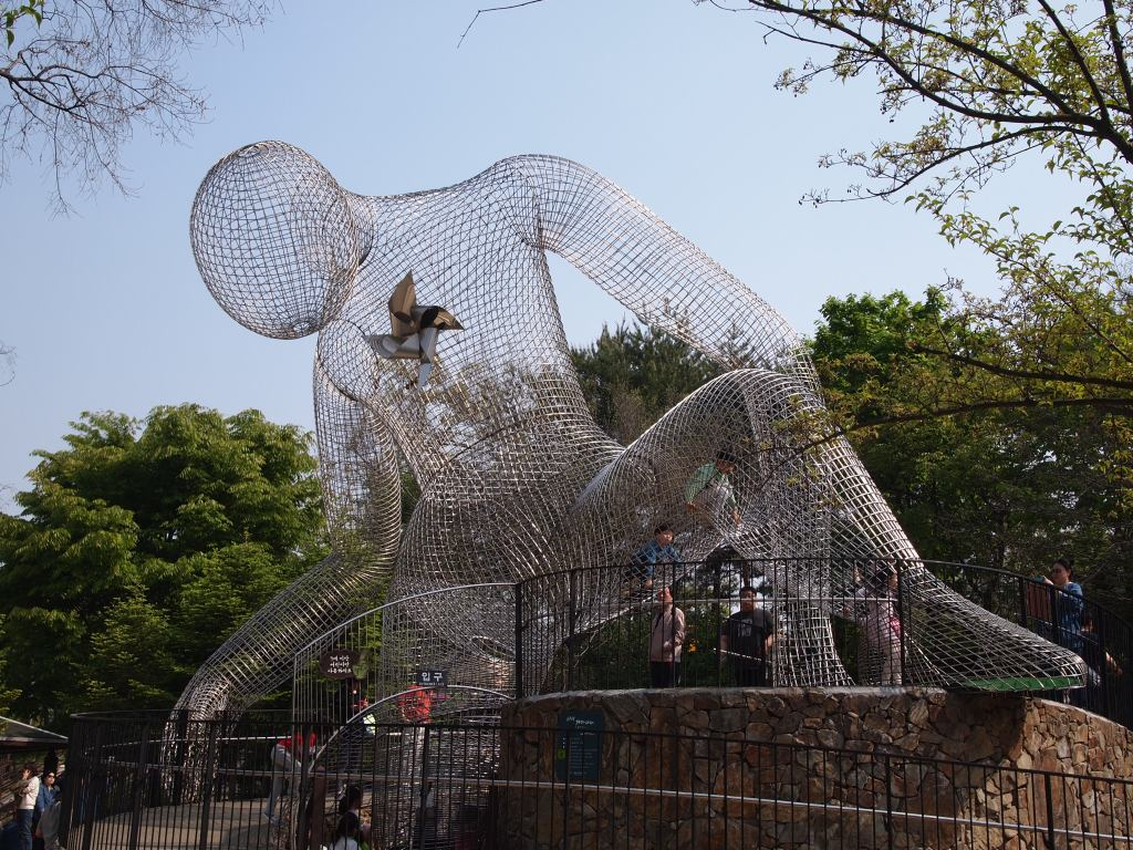 Really cool climbing sculpture for the kiddies