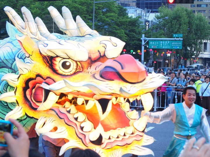 This was a huge dragon that was led by at least 10 people inside