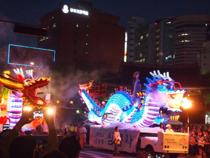 My favorite lanterns - the fire-breathing dragons!