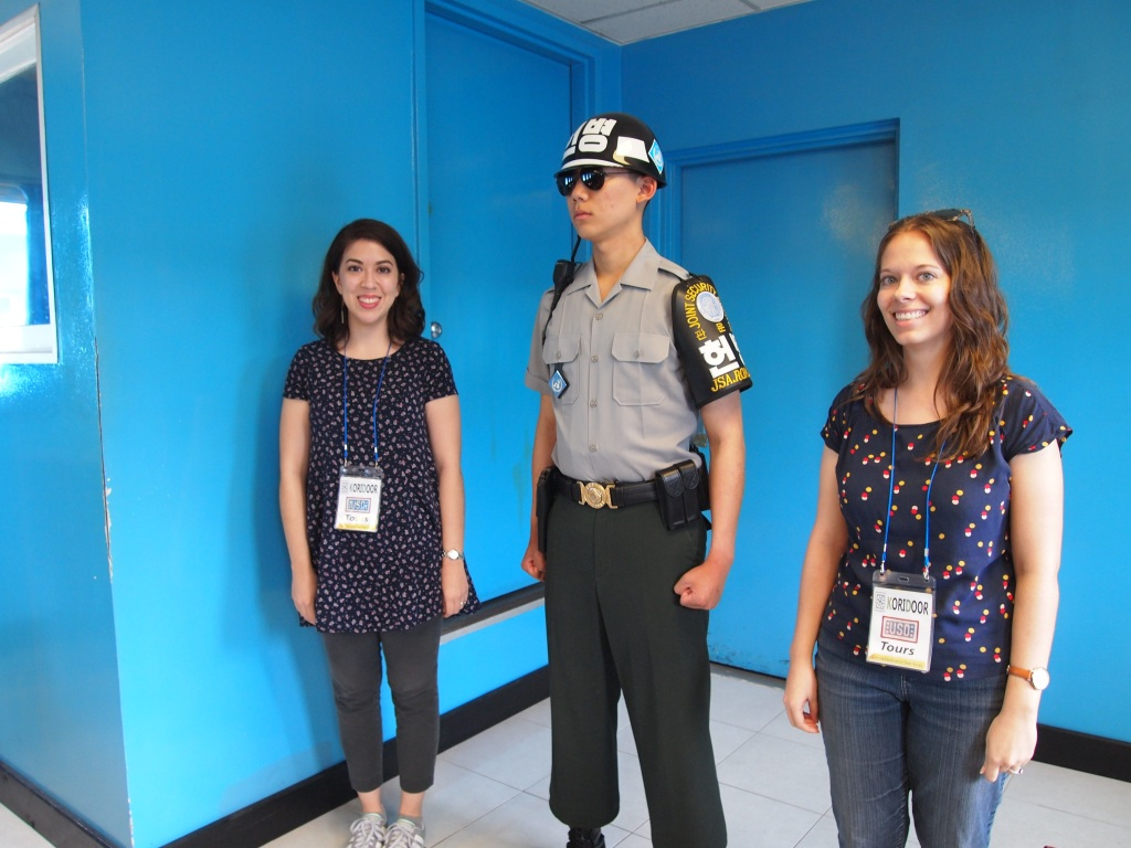Standing in North Korea next to an ROK soldier