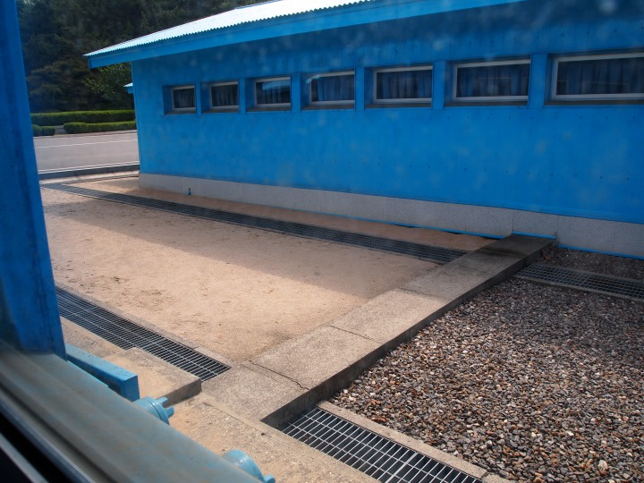 This concrete line is the MDL - the gravel side is South Korea & the sand side is North Korea
