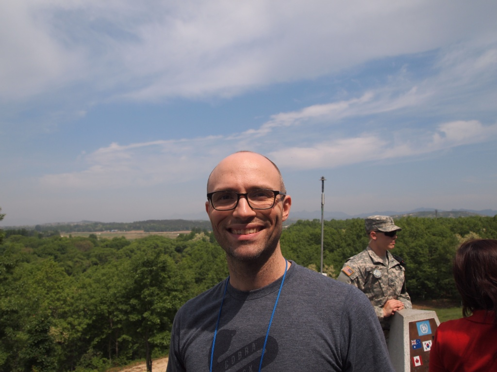Zach with DPRK in the background