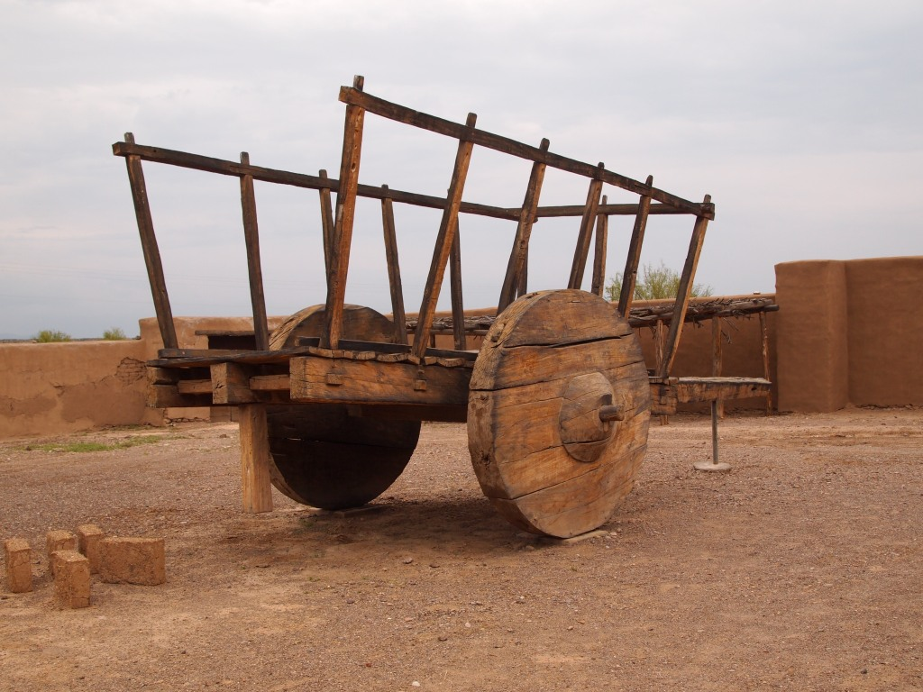 Replica Carreta - this ox cart was used to transport goods on the Chihuahua Trail