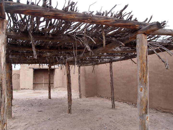 A ramada, or shade shelter. It shaded horses and other livestock