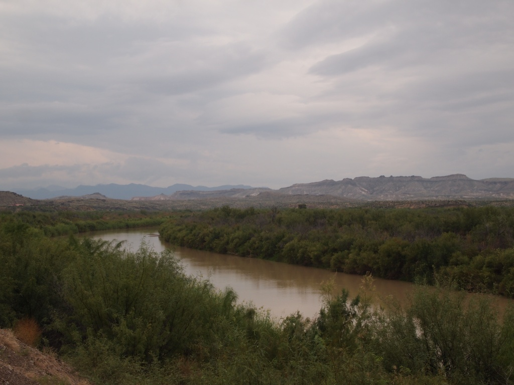 Our first sighting of the Rio Grande
