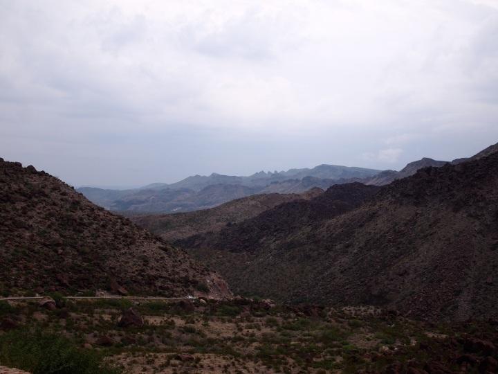 The River Road cutting through the terrain