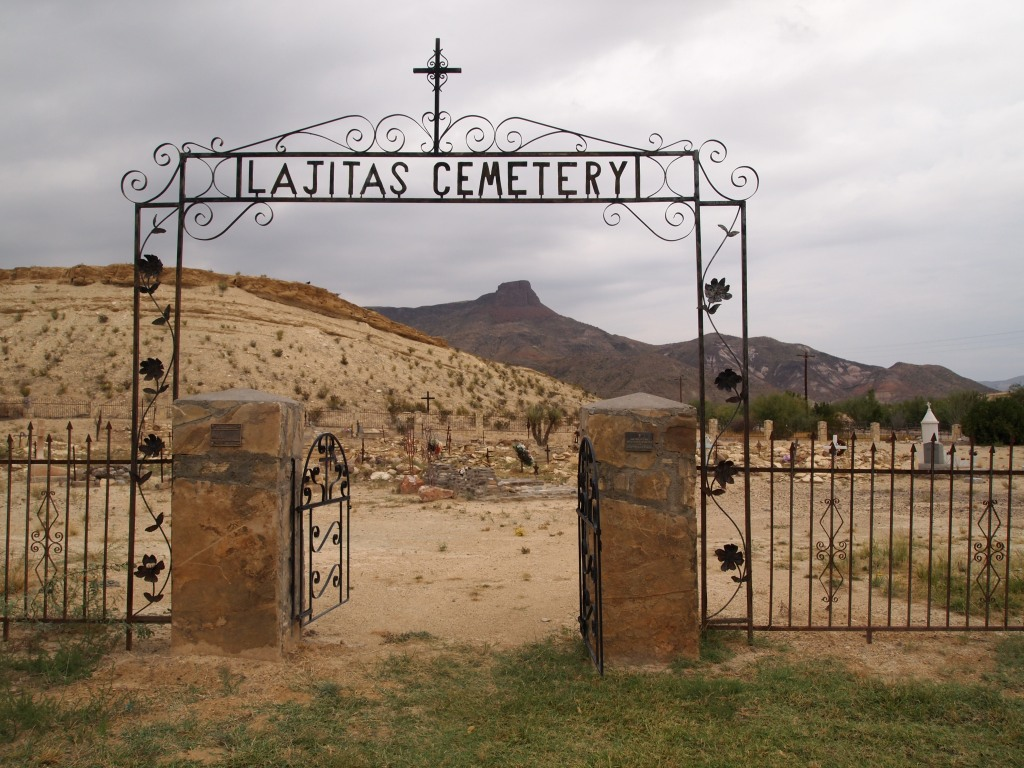 Old cemetery, newer gate