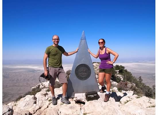 At the top of Texas - Guadalupe Peak
