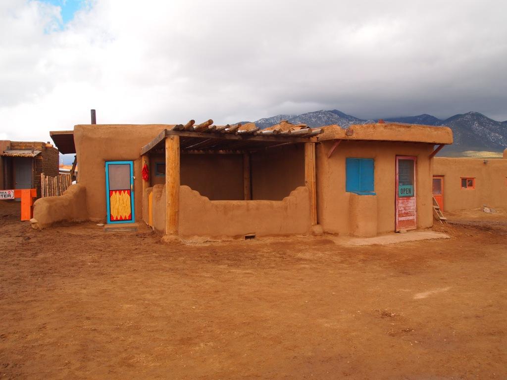 Walking inside the Pueblo
