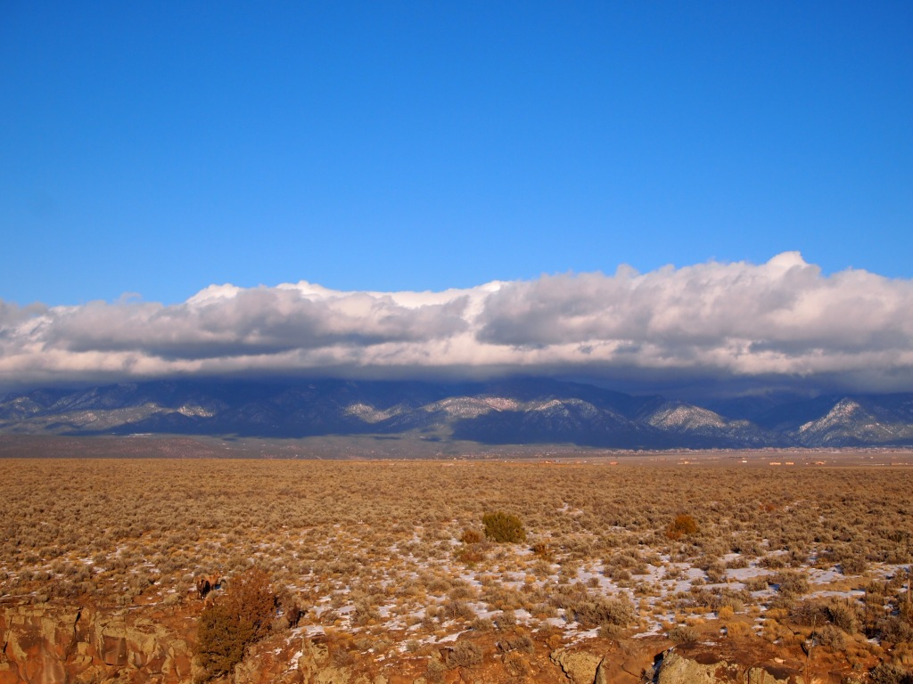 Sangre de Cristo covered by clouds