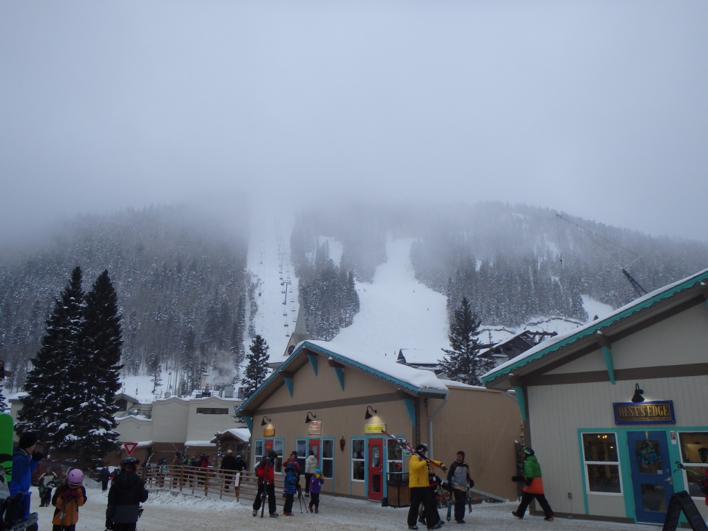 Lift 1 appeared even more daunting on our second day as clouds covered most of the mountain.