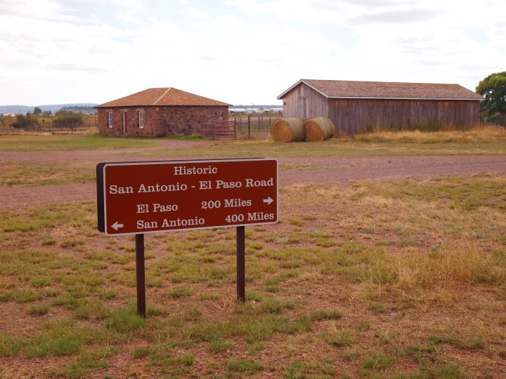 Part of the original route of the San Antonio-El Paso Road