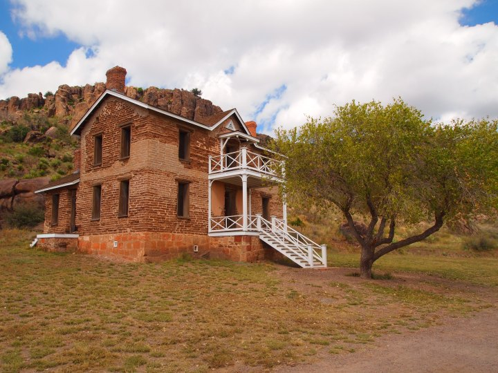 One of the best-preserved two story officers' quarters