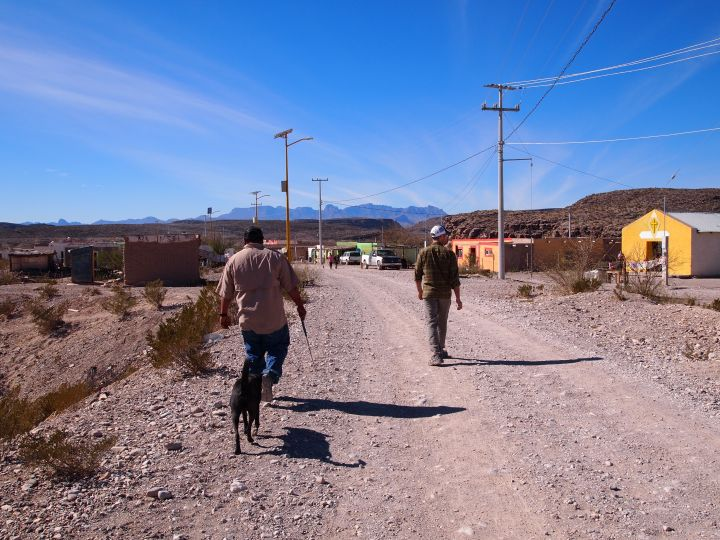 Strolling with our guide and his dog, Negro (black in Spanish)