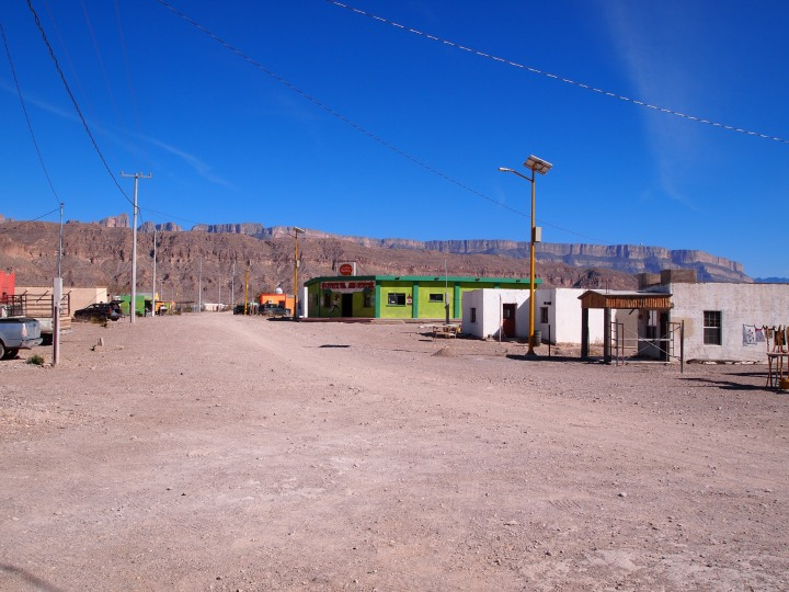 The main street of Boquillas