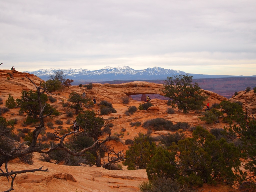 Mesa Arch in the distance