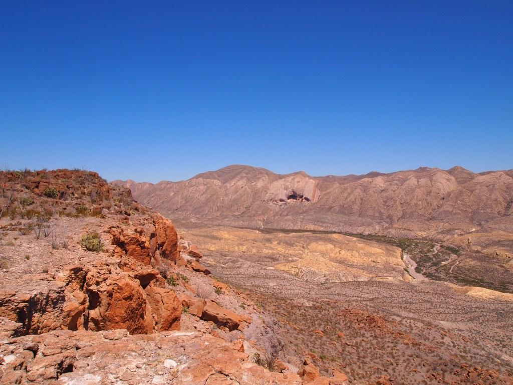 El Solitario with Fresno Canyon below