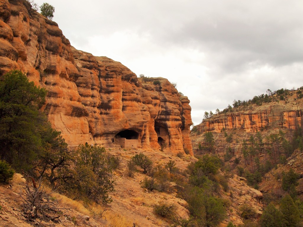 A glimpse of the dwellings as we hiked to the site