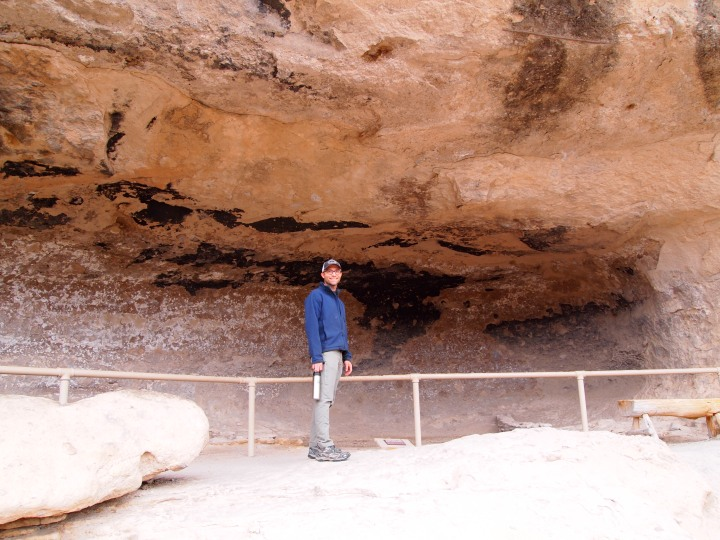 Zach in front of cave one