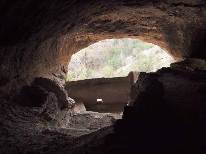 The view from deep in the back of cave three
