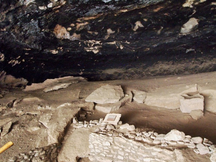Inside cave three - looking toward the area that might have been an inner courtyard