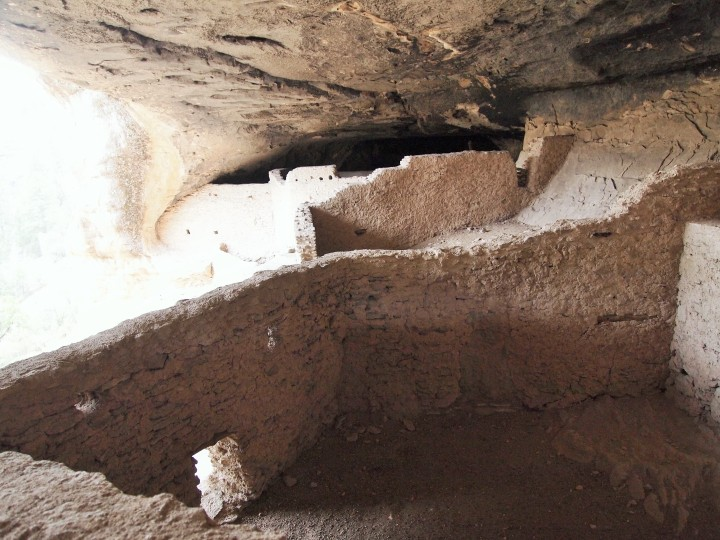 Peeking into some of the structures in cave four