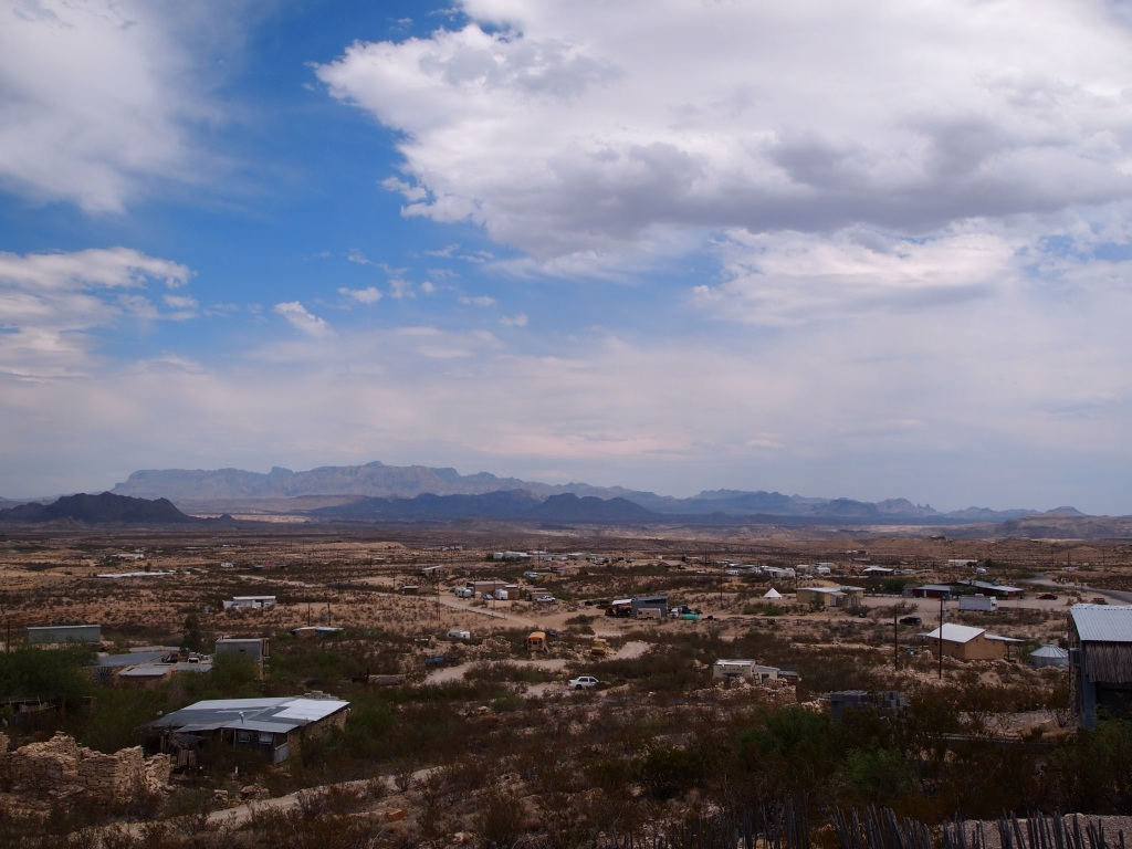 Nice views of Big Bend NP and the Chisos from Terlingua