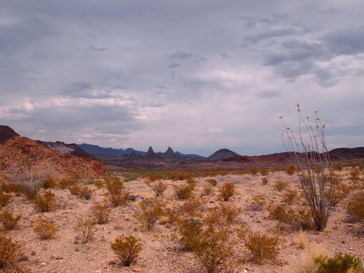 Stopping along the scenic drive for a shot of Mule Ears