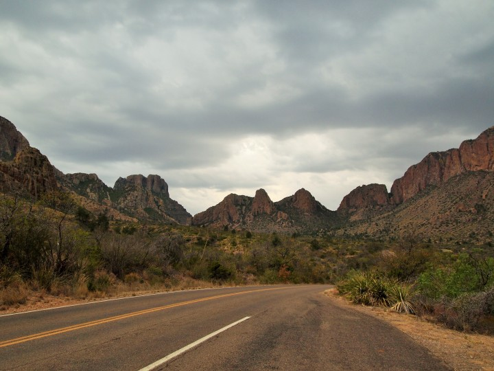 Leaving the Chisos Basin