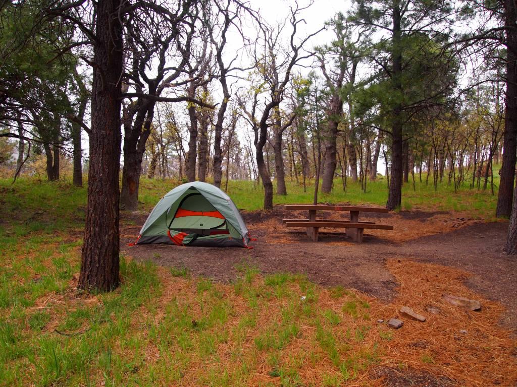 Slightly wet campsite