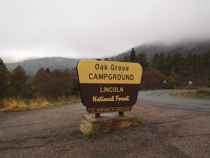 Our campground in the Smokey Bear section