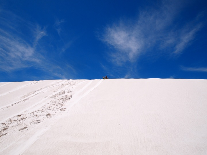 The tallest dune we found